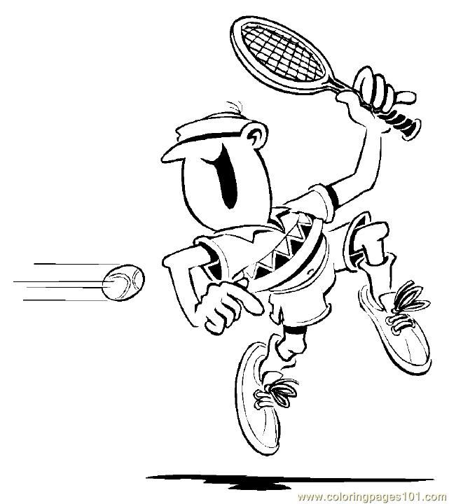 Tennis 3 Coloring Pages 7 Com Page