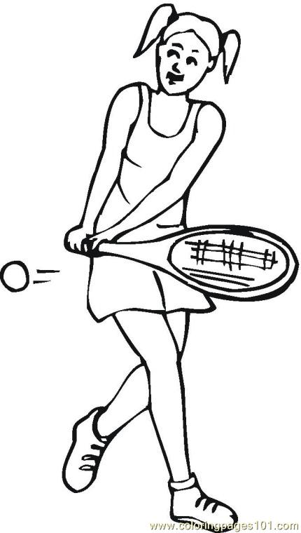 Tennis Coloring Pages 7 Com Coloring Page - Free Tennis Coloring ...