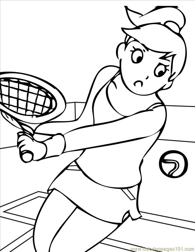 Tennis Ink Coloring Page