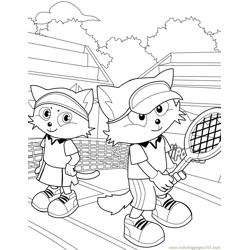 Tennis  Free Coloring Page for Kids