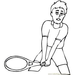 Tennis 2 Coloring Pages 7 Com coloring page