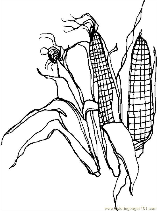 Corn 2 Coloring Page