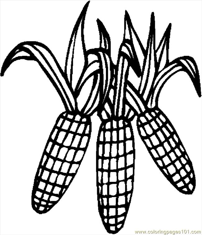 Corn 4 Coloring Page - Free Thanksgiving Day Coloring Pages ...