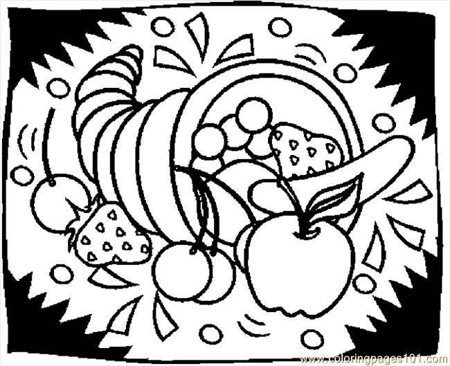 Cornucopia 17 coloring page free thanksgiving day for Cornucopia printable coloring pages