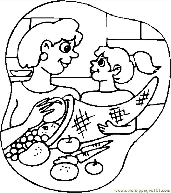 Filling Cornucopia Coloring Page - Free Thanksgiving Day ...