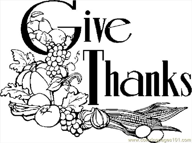 Give Thanks Coloring Page - Free Thanksgiving Day Coloring Pages ...