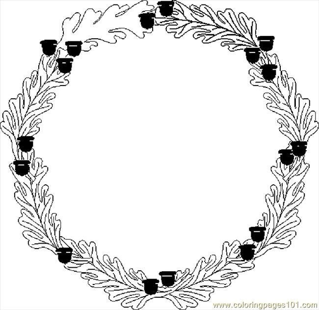 Harvest Wreath Coloring Page