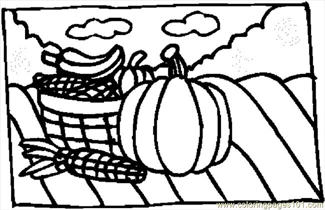 Holiday Basket 2 Coloring Page