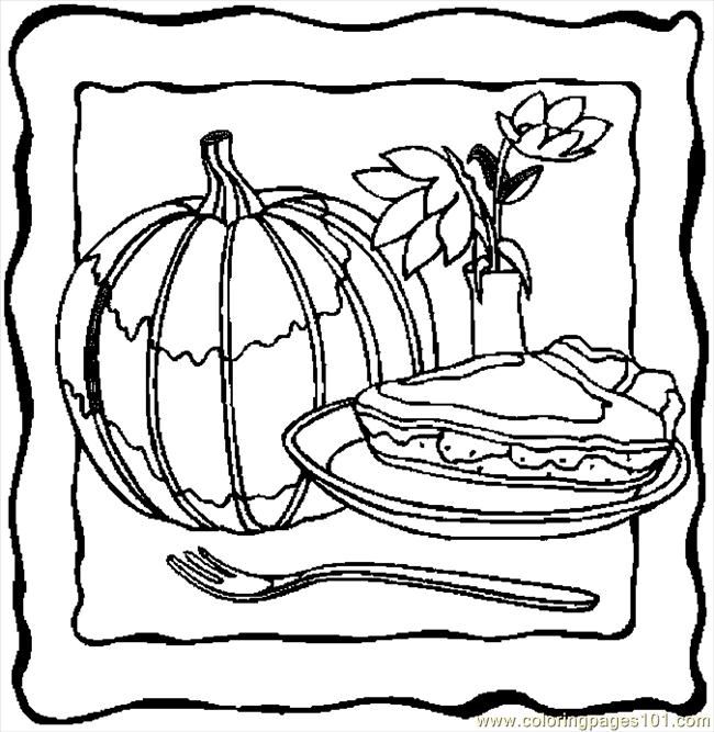 coloring pages pumpkin pie - photo#12