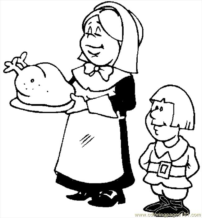 Serving Turkey 04 Coloring Page