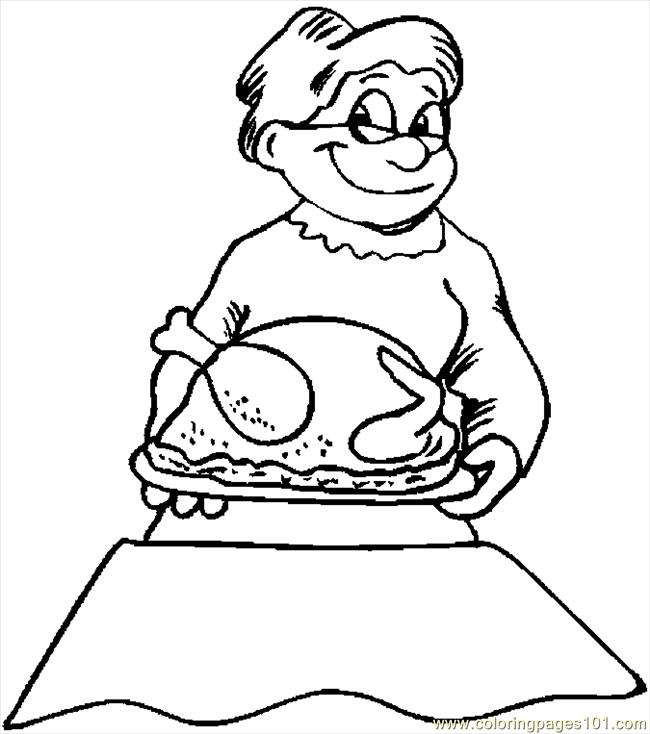 Serving Turkey 08 Coloring Page