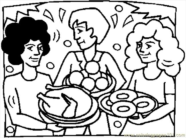 Thanksgiving Dinner 5 Coloring Page