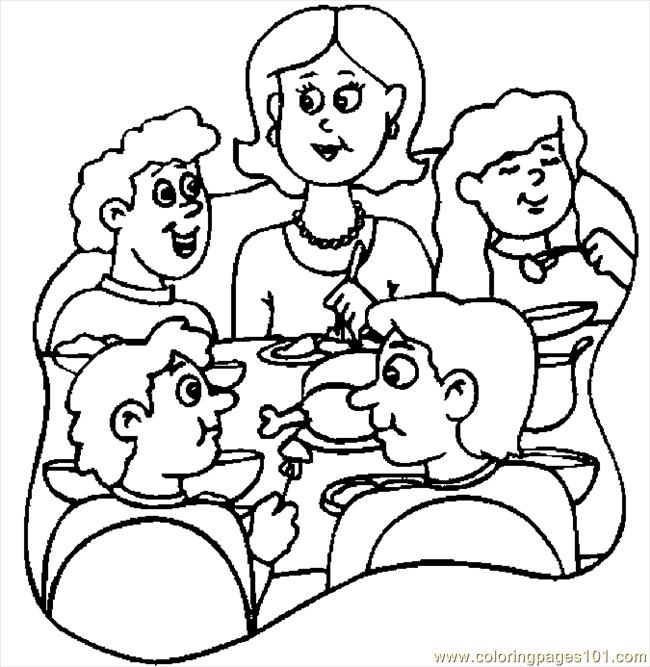 Thanksgiving Dinner 6 Coloring Page