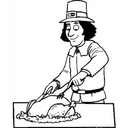 Pilgrim Carving Turkey