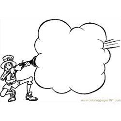 Pilgrim Firing Musket Frame Free Coloring Page for Kids