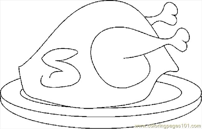 Turkey Cooked 02 Coloring Page
