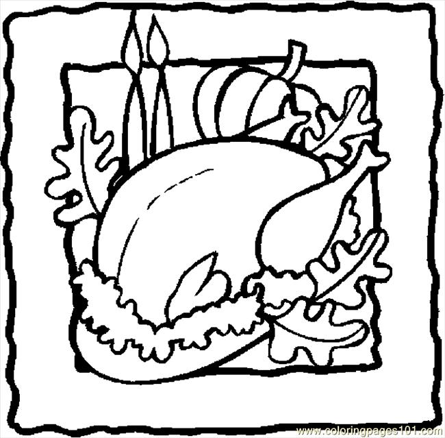 Turkey   Cooked 18 Coloring Page