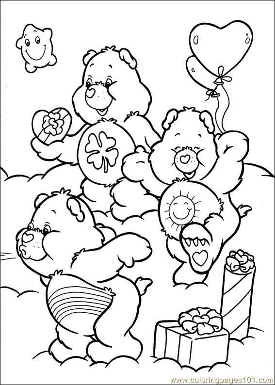 Care Bears 44 Coloring Page Free The Care Bears Coloring Pages