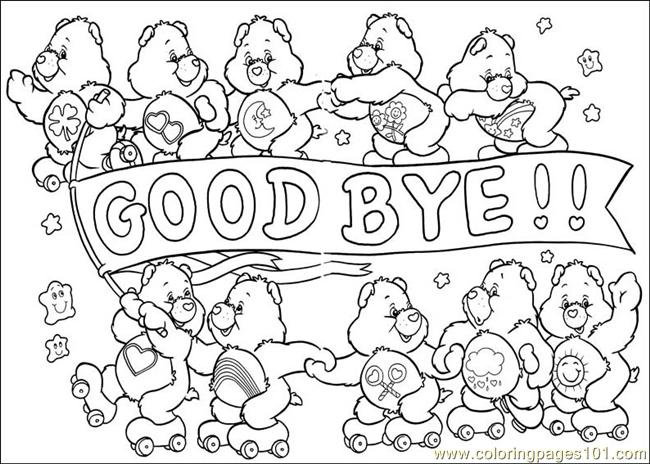 Care Bears 55 Coloring Page Free The Care Bears Coloring Pages