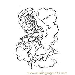 Notre Dame 19 Free Coloring Page for Kids