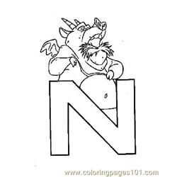 Notre Dame 4 coloring page