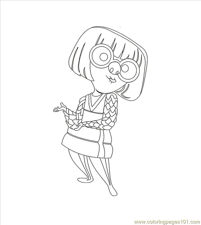 Edna0002 Coloring Page Free The