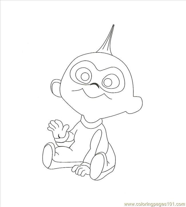 Jack Jack0001 Coloring Page - Free The Incredibles Coloring Pages ...