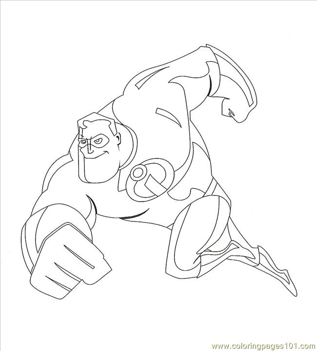 Mr Incredible20001 Coloring Page