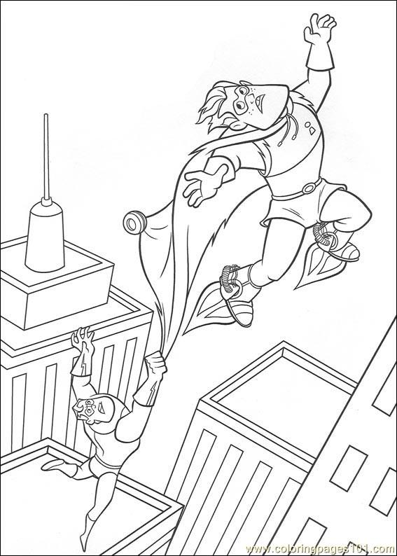 The Incredibles 02 Coloring Page