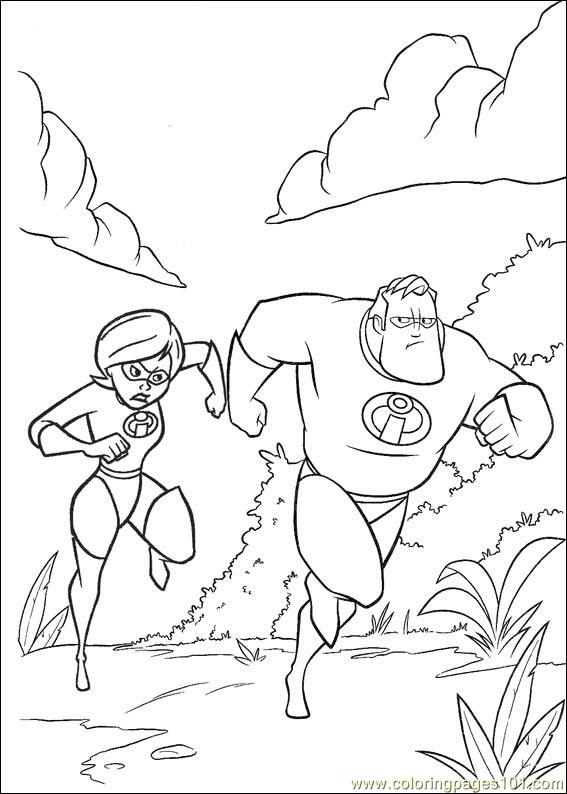 The Incredibles 12 Coloring Page