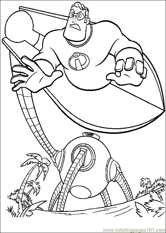 The Incredibles 37 Coloring Page