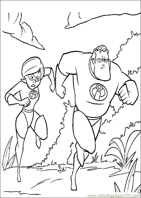 The Incredibles 51 Coloring Page