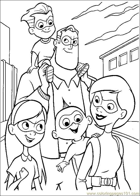 The Incredibles 55 Coloring Page - Free The Incredibles ...