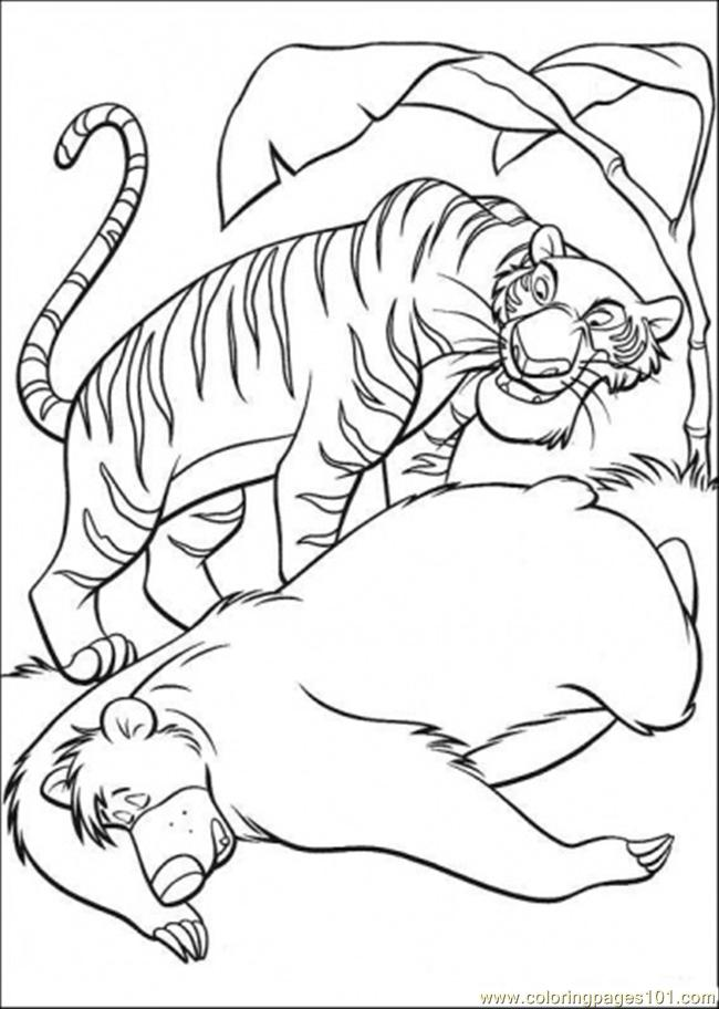 Baloo And Shere Khan Coloring Page