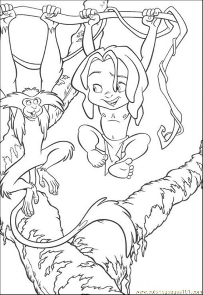 Playing On The Tree Coloring Page
