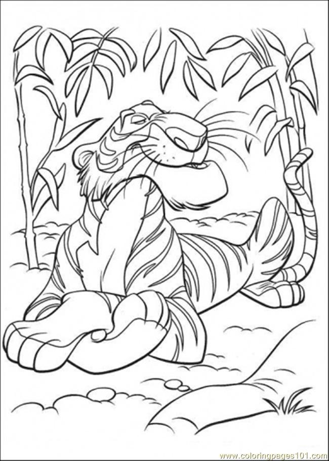 Shere Khan Coloring Page