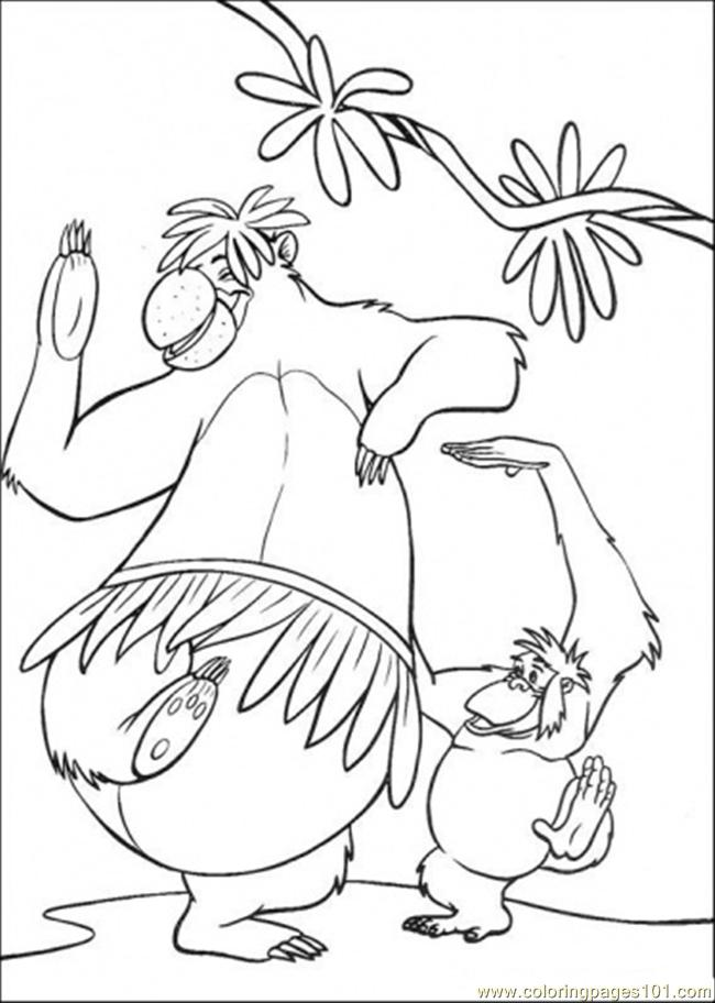 The Bandar Log Are Dancing Together Coloring Page