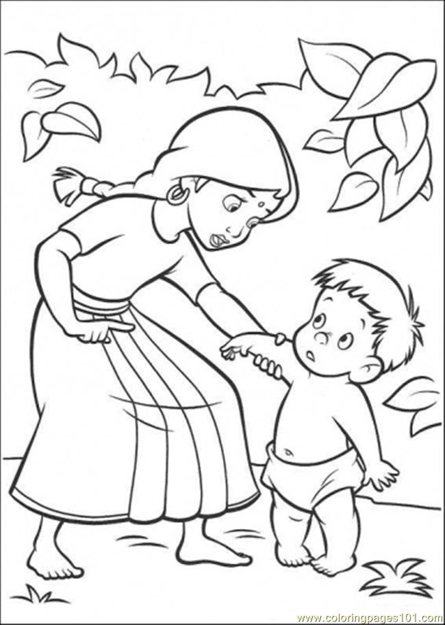 The Indian Family Coloring Page