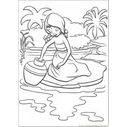 Indian Girl coloring page