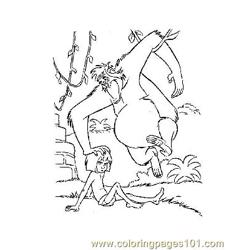 Jungle Book 22 Free Coloring Page for Kids