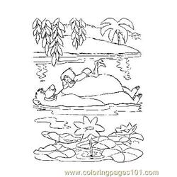 Jungle Book 28 Free Coloring Page for Kids
