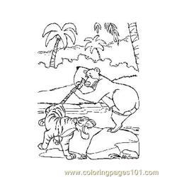 Jungle Book 3 Free Coloring Page for Kids