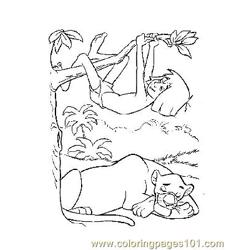 Jungle Book 4 Free Coloring Page for Kids