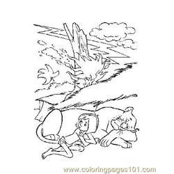Jungle Book 5 Free Coloring Page for Kids