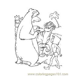 Jungle Book 6 Free Coloring Page for Kids
