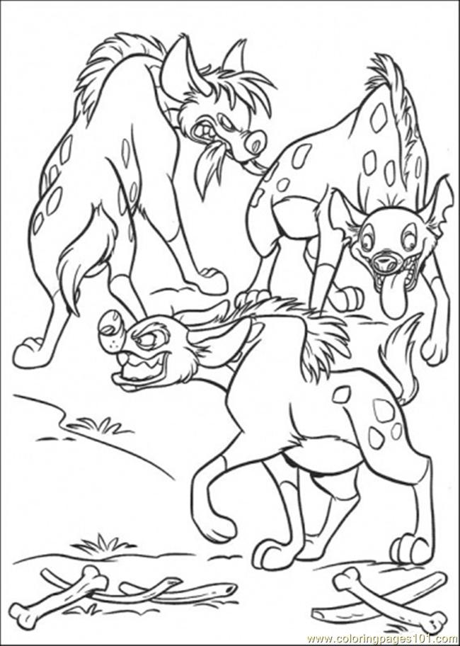 Hungry Hyenas Coloring Page