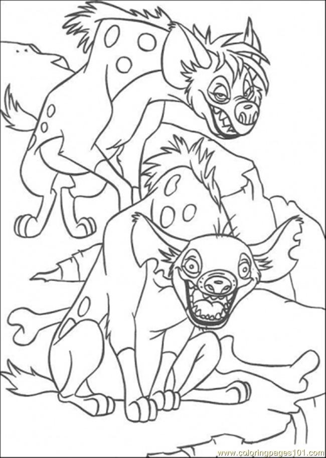 Hyena Coloring Page Free The Lion King Coloring Pages