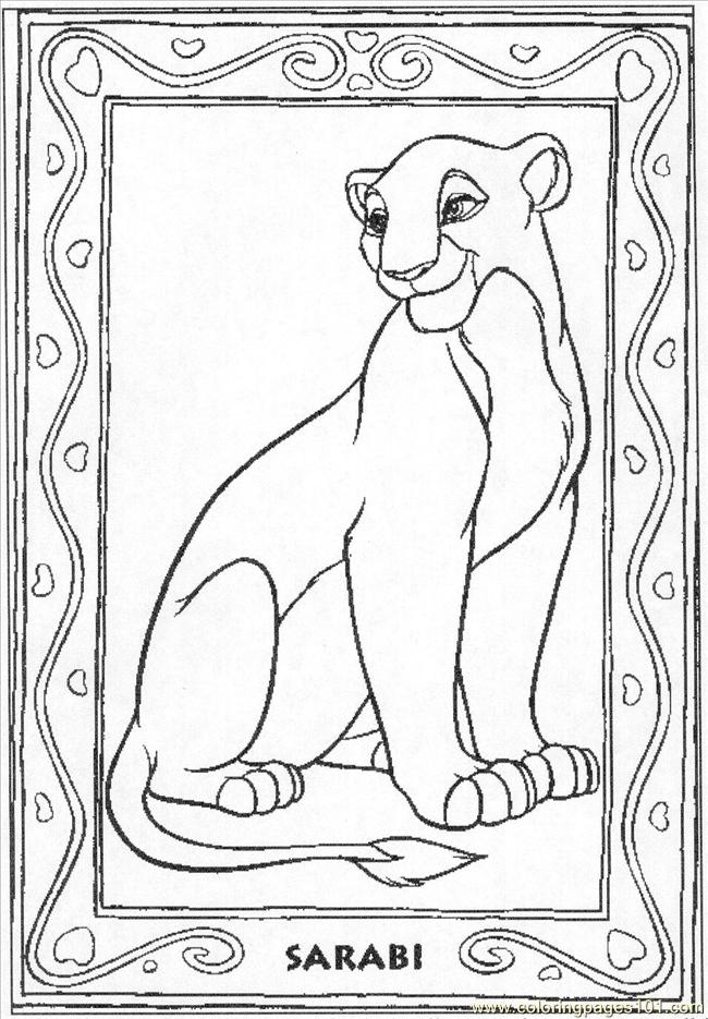Lion Coloring Pages Pdf : Lion sarabi coloring page free the king