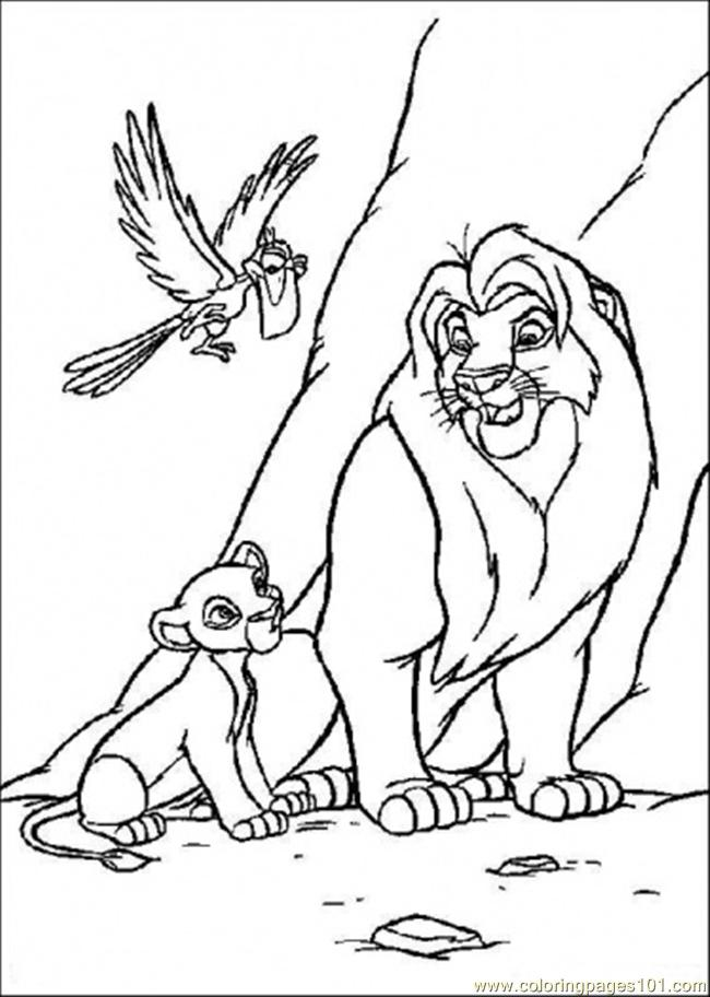 Simba With Its Father Coloring Page
