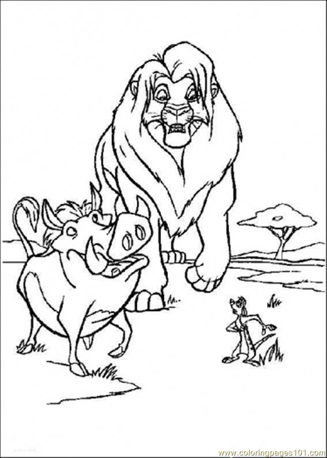 The Lion King 16 Coloring Page